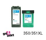 HP 350XL bk + 351XL clr inktpatronen remanufactured (2 st)