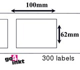 Brother compatible labels 62 x 100 mm (DK-11202) (10 st)