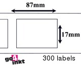 Brother compatible labels 17 x 87 (DK-11203)