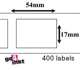 Brother compatible labels 17 x 54 mm (DK-11204) (10 st)