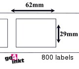 Brother compatible labels 29 x 62 mm (DK-11209) (10 st)