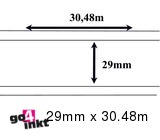 Brother compatible labels 29 mm x 30.48 m (DK-22210) (10 st)