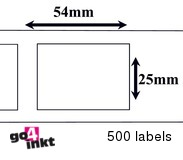 Dymo compatible Labels 54 x 25 mm (11352)