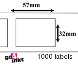 Dymo compatible Labels 57 x 32 mm (11354)