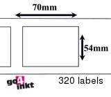 Dymo compatible Labels 70 x 54 mm (99015)