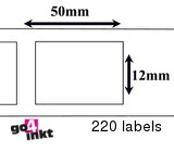 Dymo compatible Labels 50 x 12 mm (99017) (10 st)