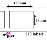 Dymo compatible Labels 190 x 59 mm (99019) (10 st)
