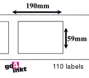 Dymo compatible Labels 190 x 59 mm (99019)