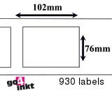 Zebra compatible Labels 102 x 76mm Thermal Label