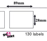 Seiko compatible labels 89 x 28 mm(SLP 2RL) (10 st)