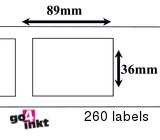 Seiko compatible labels 89 x 36 mm (SLP 2RLE) (10 st)