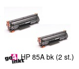 HP 85A bk, CE285A duotoner remanufactured (2 st)