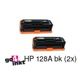 HP 128A bk duo pack toner compatible (2 st)