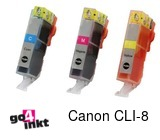 Canon CLI-8, CLI8 (5xcmy) serie inkt comp. met chip (15 st)