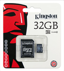 Kingston SD32GB MicroSDHC Class 4 + adapter (SDC4/32GB)