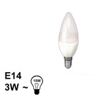 E14 LED Kaars Lamp 3W Warm