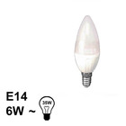 E14 LED Kaars Lamp 6W Warm