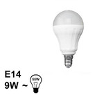 E14 LED Bol Lamp 9W Warm