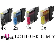 Brother LC-1100, LC1100 serie inktpatronen compatible (10 st.)