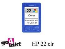 HP 22 3-clr inktpatroon remanufactured