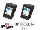 HP 300XL bk Twin Pack remanufactured (2 st)