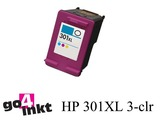 HP 301XL 3-clr inktpatroon remanufactured