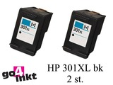 HP 301XL bk Twin Pack inktpatroon remanufactured (2 st)