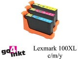 Lexmark 100XL c/m/y inktpatroon compatible (3st)