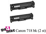 Canon 718 BK toner Duo Pack compatible (2x)