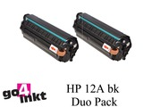 HP 12a bk, Q2612AD Duo Pack toners compatible (2x)