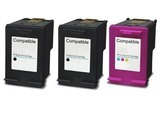 HP 300XL bk + 3-clr inktpatroon remanufactured (3 st= 2xbk, 1xclr)