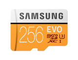 Samsung EVO Micro SDXC 256GBClass 10 + adapter (MB-MP256GA)