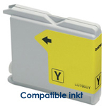 Brother LC-1000y, LC1000y inktpatroon compatible