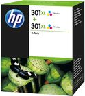 HP 301XL 3-clr Twin Pack inktpatroon origineel (2 st)